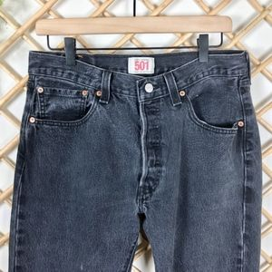 Levi's Vintage 501 Straight Washed Out Black Jeans